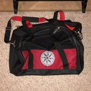 Other - NWOT Red Black Duffle Bag Suitcase